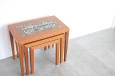 画像6: 北欧ビンテージ家具/デンマーク/ロイヤルコペンハーゲン/ネストテーブル/タイルトップ (6)