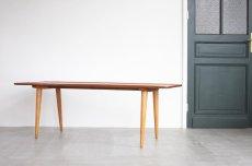 画像1: 北欧ビンテージ家具/デンマーク製/ウエグナー/チーク×オーク/コーヒーテーブル/AT11 (1)
