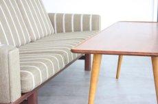 画像3: 北欧ビンテージ家具/デンマーク製/ウエグナー/チーク×オーク/コーヒーテーブル/AT11 (3)