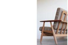 画像3: ビンテージ北欧家具/ハンス J ウェグナー/GE240/3人掛けソファー/チーク✕オーク/ASK (3)