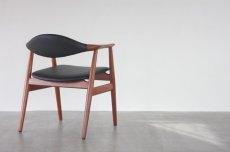 画像2: 北欧家具ビンテージ/デンマーク製 Erik Kirkegaard 皮革張りアームチェア (2)