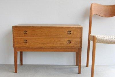 画像2: 北欧ビンテージ家具/デンマーク/チェスト/オーク2段