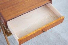 画像9: 北欧ビンテージ家具/スウェーデン/チーク×ビーチ/ベッドサイドテーブル+籐棚 (9)