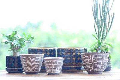 画像1: 北欧ガーデニンググッツ/ビンテージ/Upsala Ekeby/ウプサラエクビィ/植物ポット/鉢/Sサイズ