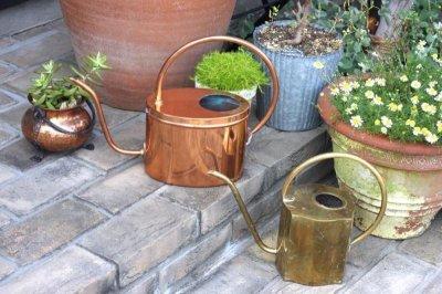 画像1: スウェーデン/ブラス(真鍮)のヴィンテージ水差し/細口ジョーロ