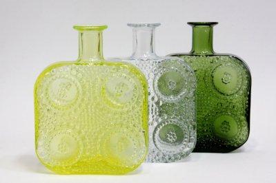 画像1: Riihimaen Lasi/Grapponia/ナニー・スティル グラッポニアボトル グリーン