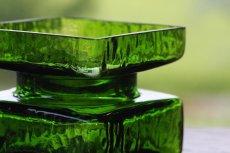 画像3: ビンテージ北欧ガラス/Riihimaen Lasi/Palaシリーズ/花瓶/グリーン/Mサイズ (3)