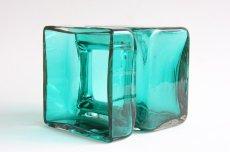 画像3: 北欧雑貨 Riihimaen Lasi Palaシリーズ 花瓶 ブルーグリーン Lサイズ (3)