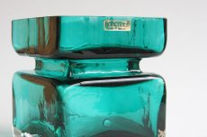 画像2: 北欧雑貨 Riihimaen Lasi Palaシリーズ 花瓶 ブルーグリーン Lサイズ (2)
