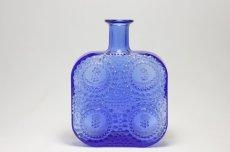 画像1: Riihimaen Lasi/Grapponia/ナニー・スティル グラッポニアボトル ブルー (1)