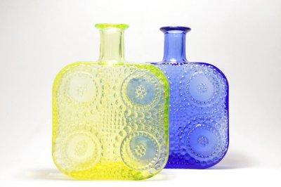 画像1: Riihimaen Lasi/Grapponia/ナニー・スティル/グラッポニアボトル/ブルー