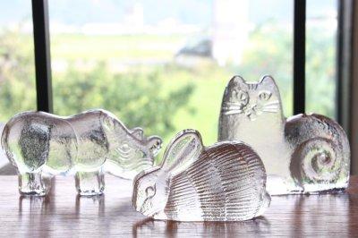 画像1: スウェーデン/Royal Krona/ガラスのウサギ/リサ・ラーソン/ビンテージ