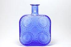 画像1: Riihimaen Lasi/Grapponia/ナニー・スティル/グラッポニアボトル/ブルー (1)