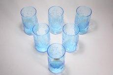 画像8: 北欧ビンテージガラス/オイバトイッカ/フローラ/ヌータヤルヴィ/グラス/タンブラー/オリジナルボックス付き/6個セット/未使用品/ブルー/高さ10cm (8)