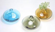 画像4: 北欧ビンテージガラス/スウェーデン色ガラスフラワーベース/ブルー (4)