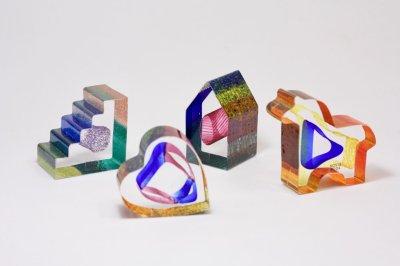 画像1: 北欧ガラス /KOSTA BODA /Bertil Vallien/Mini Sculptures/My Heart/ハート