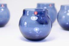 画像1: ビンテージ北欧雑貨/iittala/イッタラ/Aroma/アロマ/タンブラー/ブルー (1)