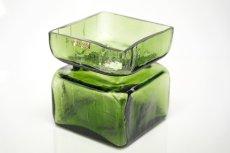 画像3: 北欧ビンテージ雑貨/Riihimaen Lasi/Pala/ベース/花瓶/Lサイズ/オリーブグリーン (3)