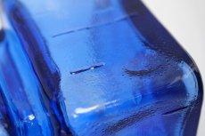 画像5: 北欧ビンテージ雑貨/Riihimaen Lasi/Pala/ベース/花瓶//Lサイズ/ブルー (5)