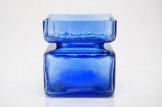 画像1: 北欧ビンテージ雑貨/Riihimaen Lasi/Pala/ベース/花瓶//Lサイズ/ブルー (1)