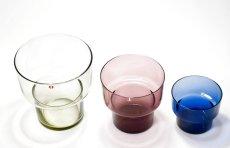 画像4: 北欧ビンテージガラス/Lisa Johansson Pape/リサヨハンソンパッペ/Viola/ビオラ/トリプルベース/クリア&ブルー&ピンク (4)