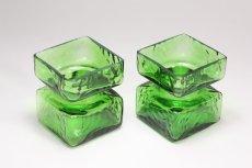 画像3: ビンテージ北欧雑貨/Riihimaen/ Lasi Pala/花瓶/グリーン/XSサイズ  (3)