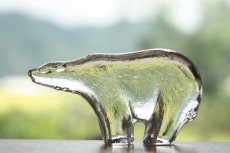 画像1: ROYAL KRONA /ロイヤルクローネ/クリスタルガラスのオブジェ/Bertil Vallien/シロクマ (1)