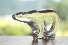 画像2: ROYAL KRONA /ロイヤルクローネ/クリスタルガラスのオブジェ/Bertil Vallien/シロクマ (2)