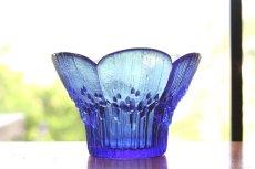 画像2: ビンテージ北欧ガラス/フィンランド/Lasisepat/クロッカス/レアカラーブルー/花瓶/キャンドルホルダー (2)