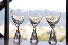 画像1: ビンテージ北欧ガラス/デンマーク/Holmegaard/ホルムガード/Princess/ショットグラス/冷酒グラス (1)