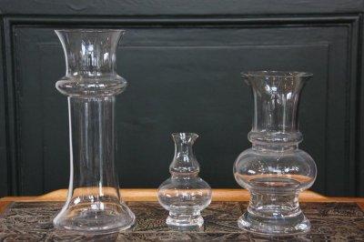 画像1: スウェーデン/ビンテージ/ガラスフラワーベース/11cm