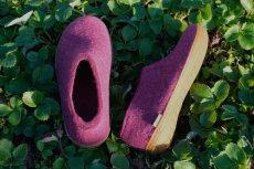 画像3: 北欧デザイン/フエルト×ラバーソール/靴/極厚ウール100%フエルト/glerups/グリオップス/クランベリー×ハニーラバー (3)