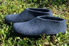画像1: 北欧デザイン/フエルト×ラバーソール/靴/極厚ウール100%フエルト/glerups/グリオップス/デニム (1)