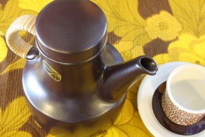 画像1: Gustavsberg/グスタフスベリ/Terma/テルマ/籐巻きハンドルコーヒーポット