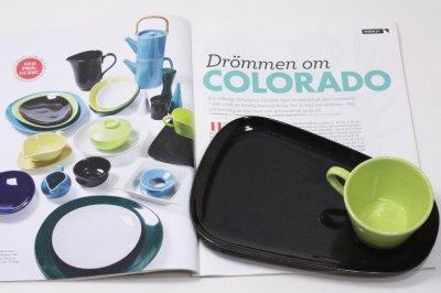 画像1: Gustavsberg/グスタフスベリ/Colorado/コロラド/コーヒーTVセッ/ト/ライムグリーン&ブラック/No.1