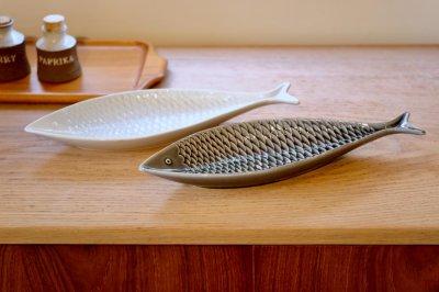 画像2: Gustavsberg/グスタフスベリ/スティグ・リンドベリ/お魚のプレート/ホワイト/Lサイズ