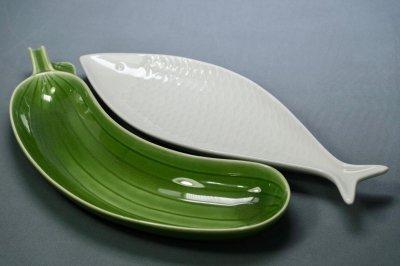 画像1: Gustavsberg/グスタフスベリ/スティグ・リンドベリ/お魚のプレート/ホワイト/Lサイズ
