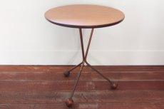 画像1: 北欧ビンテージ家具/チーク/Albert Larsson/3本脚テーブル (1)