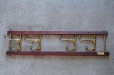 画像2: Skogslunds Metallgjuteri社製/ビンテージ真ちゅうウォールハンガー/フック/ 57cm (2)