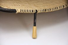画像5: 北欧ビンテージインテリア雑貨/トレイバスケット/アイアン&籐編み/No.2 (5)