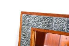 画像1: 北欧ビンテージ家具/Jens H. Quistgaard /イェンス・H・クィストゴー /NISSEN/姿鏡/タイルフレームミラー/貴重レア/新品鏡交換済み (1)