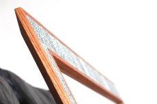 画像8: 北欧ビンテージ家具/Jens H. Quistgaard /イェンス・H・クィストゴー /NISSEN/姿鏡/タイルフレームミラー/貴重レア/新品鏡交換済み (8)