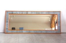 画像3: 北欧ビンテージ家具/Jens H. Quistgaard /イェンス・H・クィストゴー /NISSEN/姿鏡/タイルフレームミラー/貴重レア/新品鏡交換済み (3)