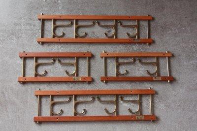 画像1: Skogslunds Metallgjuteri社製/ヴィンテージ真ちゅうウォールハンガー/フック/ 35cm/No.2