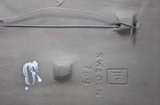 画像6: スウェーデン Jie gantofta ジィ ガントフタ ホワイトフラワー陶板の壁掛け Lサイズ (6)