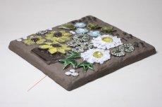画像3: ビンテージ北欧雑貨/Jie gantofta/ジィ ガントフタ/オリーブグリーンチューリップ陶板の壁掛け  (3)