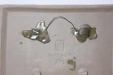 画像4: ビンテージ北欧/Jie gantofta/ジィ ガントフタ/ライトブルーフラワー陶板の壁掛け  (4)