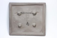 画像5: スウェーデン Jie gantofta ジィ ガントフタ 陶板の壁掛け 蝶 ブルー (5)