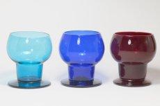 画像4: ビンテージ北欧雑貨/Kaj Franck/カイ・フランク/Wineglass 1111/Nuutajarvi/ヌータヤルヴィ/ワイングラス/ブルー (4)
