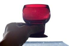 画像4: ビンテージ北欧雑貨/Kaj Franck/カイ・フランク/Wineglass 1111/Nuutajarvi/ヌータヤルヴィ/ワイングラス/レッド (4)